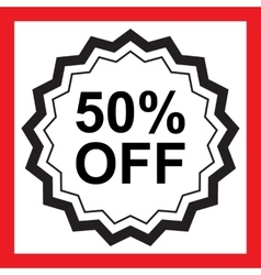Sale 50 percents off vector