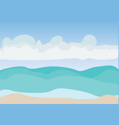 sea beach and blue sky with cloud vector image