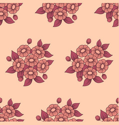 seamless daisy coral background vector image
