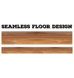 Seamless wooden floor design vector