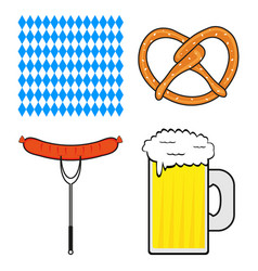 set of symbols for the oktoberfest festival vector image