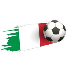 soccer ball strike flight against background of vector image