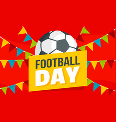 Soccer day concept banner flat style vector