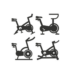Stationary bike icon design template isolated vector