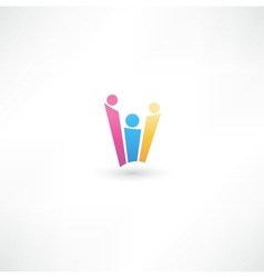 Team symbol vector image