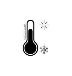 thermometer icon black vector image