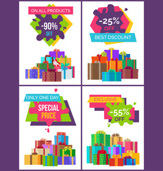 total sale on all products -90 off special price vector image