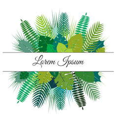trendy summer tropical leaves design vector image