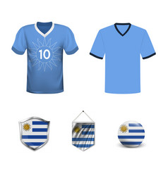 Uruguay football jersey abstract image the vector