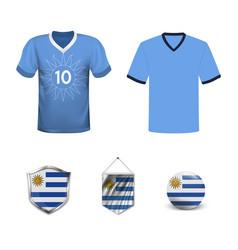 Uruguay football jersey abstract image vector