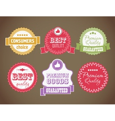 vintage discount labels set vector image