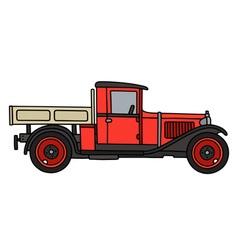 Vintage red truck vector