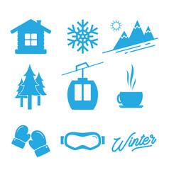 winter icon vector image