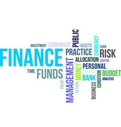 word cloud finance vector image
