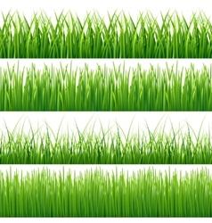 Green seamless grass set vector image vector image