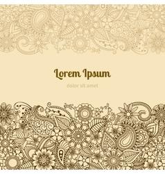 Henna Mehndi Card Template vector image