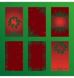 Set of christmas brochures six design card vector image
