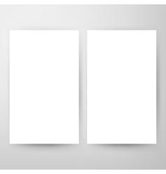 Two Blank Brochure Mockup vector image