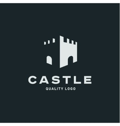 Abstract castle fortress trending flat quality vector image vector image
