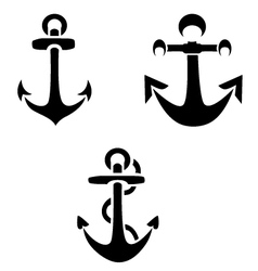 Anchor Silhouettes vector image