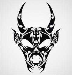 Devil Head Tattoo Design vector image