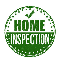 home inspection grunge rubber stamp vector image