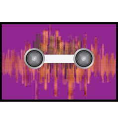 Music background with halftone vector image vector image