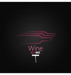 wine bottle corkscrew design background vector image vector image