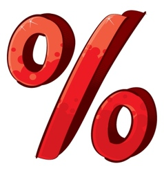 Artistic percent sign vector image vector image