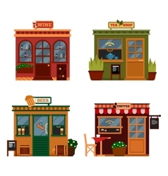 Buildings that are shops vector