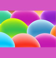 Design template in trendy bright gradient vector