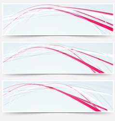 Fast speed rapid red lines web banners set vector image