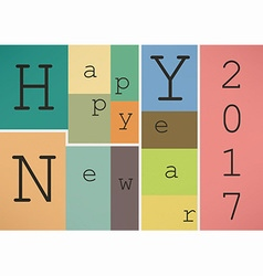 Happy New Year 2017 in vintage style vector image vector image