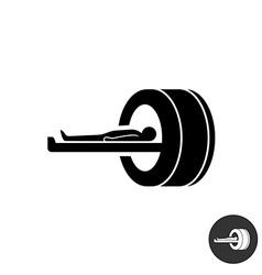 MRI icon Simple black silhouette symbol of medical vector image