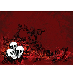 skull Halloween vector image vector image