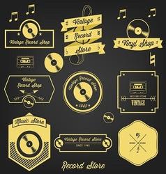 Vintage Record Shop vector image vector image