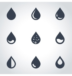 black drop icon set vector image vector image