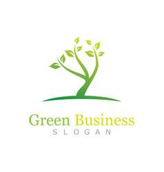 green business logo vector image vector image