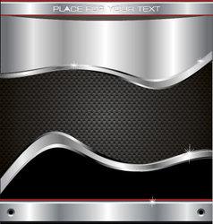 metal fiber background vector image vector image