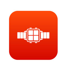 modern smart watch icon digital red vector image