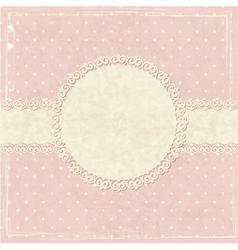 Pink vintage grunge background vector image