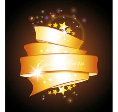 stars and gold ribbon vector image