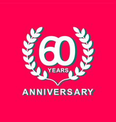 60 years anniversary template design vector