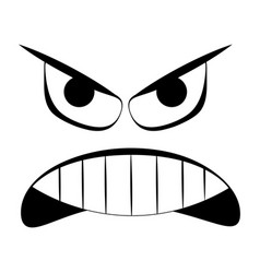 Abstract angry expression vector