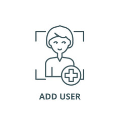 add user line icon add user outline sign vector image