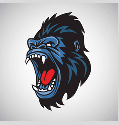 angry gorilla mascot cartoon logo vector image
