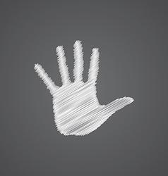 Arm sketch logo doodle icon vector