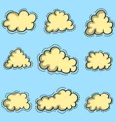 Art of cloud set vector