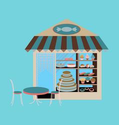 Bakery flat shop vector