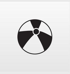 beach volleyball ball icon flat beech game vector image
